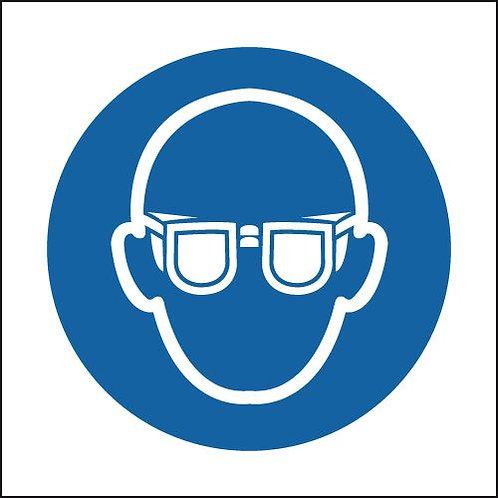 150x150mm Eye Protection Symbol - Self Adhesive