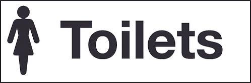 100x300mm Female toilets - Rigid