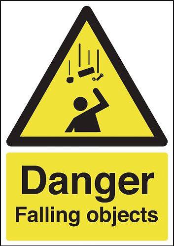 210x148mm Danger Falling Objects - Rigid