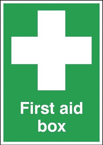 210x148mm First Aid Box - Self Adhesive