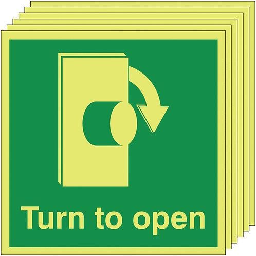 150x150 6 pack Turn To Open Clockwise - Nite Glo Self Adhesive