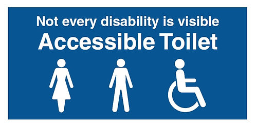 150x300mm Not every disability is visible - Rigid