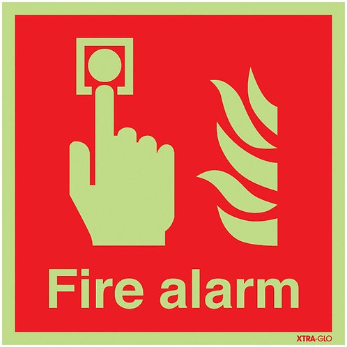 150x150mm Fire Alarm - Xtra Glo Rigid