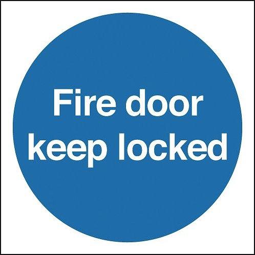100x100 Fire Door Keep Locked - Rigid