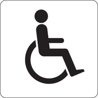 100x100mm Disabled symbol - Black on white