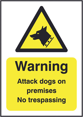 210x148mm Caution Guard Dogs on Patrol - Rigid