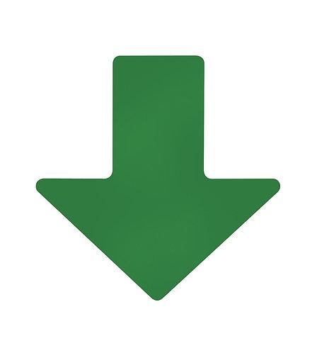 """2"""" X 5"""" Green Floor Arrows Pack of 100"""