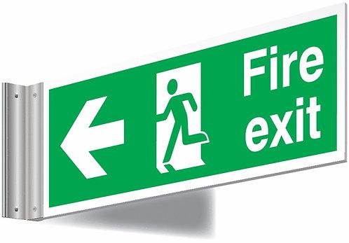 150x450mm Fire exit left sign - T Bar