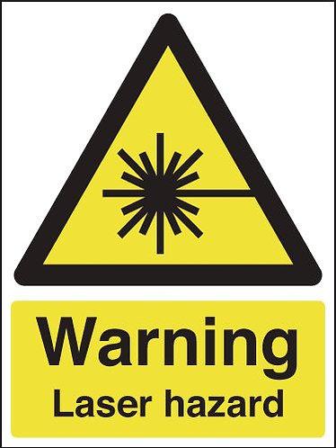 210x148mm Warning Laser Hazard - Rigid