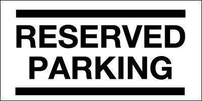 150x330mm Reserved Parking - Rigid
