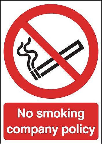 210x148mm No Smoking Company Policy - Rigid
