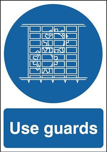 210x148mm Use Guards - Self Adhesive