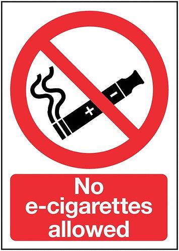 210x148mm No E-Cigarettes allowed - Self Adhesive