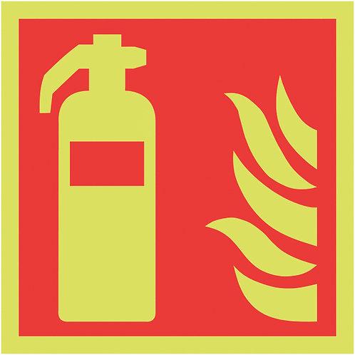 150x150mm Fire Extinguisher Symbol - Nite Glo Rigid