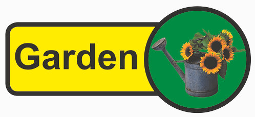 210x480mm Garden Dementia Sign