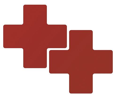 """2"""" X 5"""" Red Floor Crosses Pack of 20"""