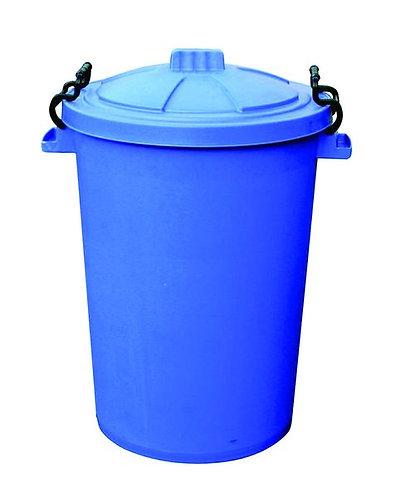 110 Litre Clip Lid Bin - Blue