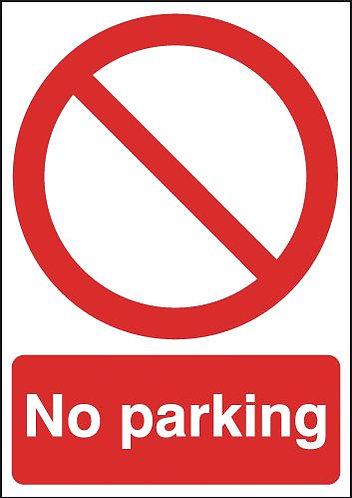 210x148mm No Parking - Self Adhesive
