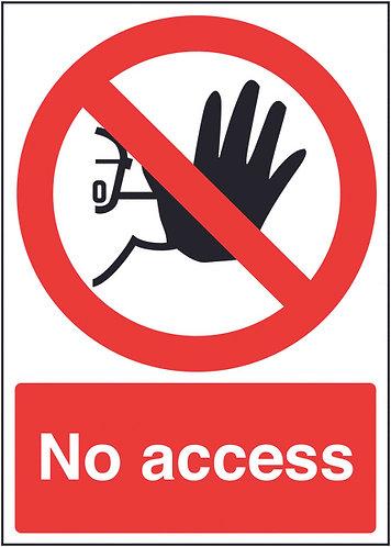 210x148mm No Access - Rigid