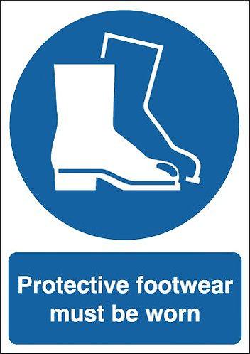 210x148mm Protective Footwear Must Be Worn - Rigid