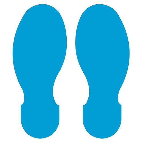 "10"" X 3.5"" Blue Footprint Pack of 10"