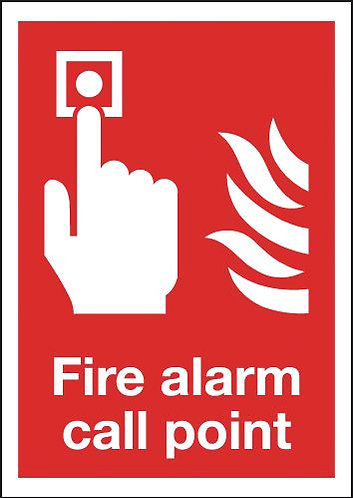 210x148mm Fire Alarm Call Point - Self Adhesive