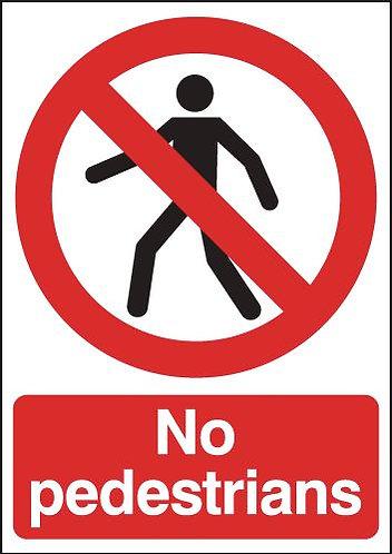 210x148mm No Pedestrians - Rigid