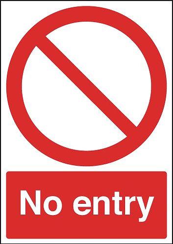210x148mm No Entry (Circular & Diagnoal Symbol) - Rigid
