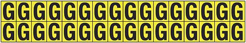 19x14mm Vinyl Cloth Letters Card G