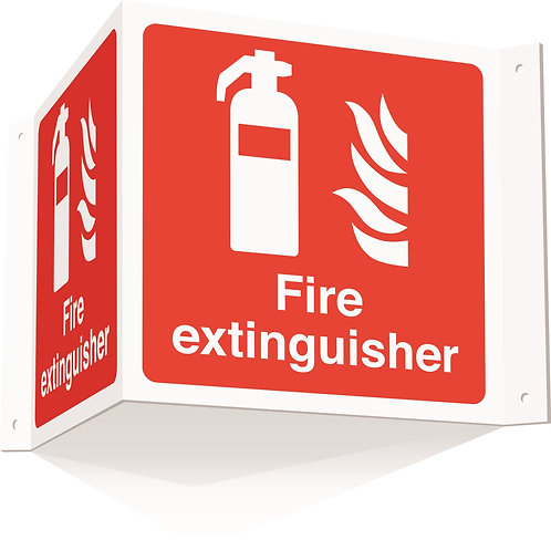 200x400mm Fire extinguisher Projecting 3D Sign