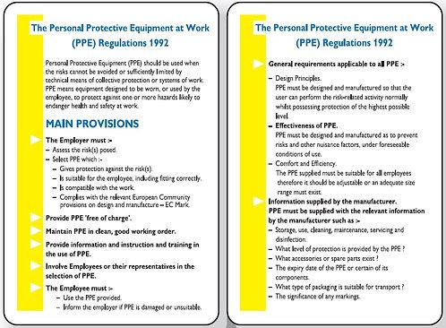 120x80mm The Manual Handling Operations Regulations 1992 Pocket Guide