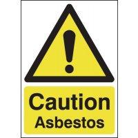 210x148mm Caution Asbestos - Rigid