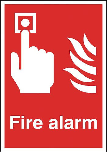 210x148mm Fire Alarm - Self Adhesive