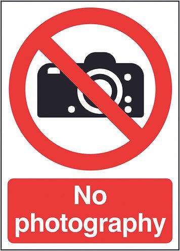 210x148mm No Photography - Rigid
