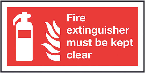 100x200mm Fire Extinguisher Must Be Kept Clear - Rigid