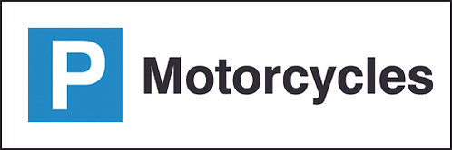 200x600mm Motorcycles Parking Sign - Rigid