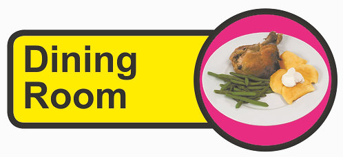 210x480mm Dining Room Dementia Sign