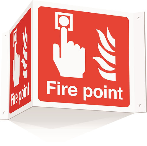 200x400mm Fire point Projecting 3D Sign