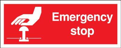 100x250mm Emergency Stop - Rigid