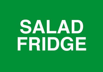 148x210mm Salad Fridge - Rigid
