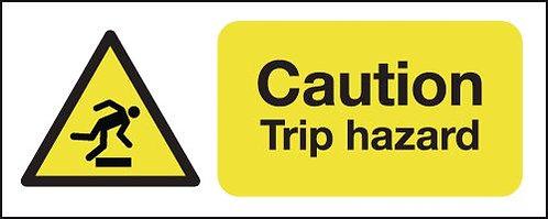 100x250mm Caution Trip Hazard - Rigid