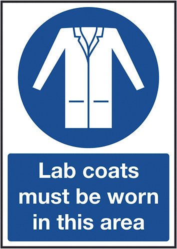 210x148mm Lab Coats Must Be Worn In this Area - Rigid