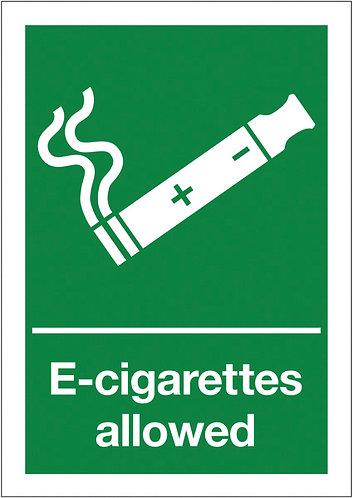 210x148mm E-Cigarettes allowed - Rigid
