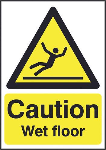 210x148mm Caution Wet Floor - Rigid
