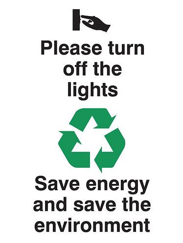 100x75mm Please turn off the lights Rigid