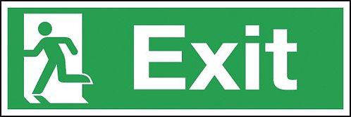 150x450mm Exit Running Man Left - Rigid