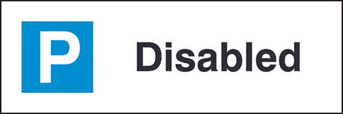 200x600mm Disabled Parking Sign - Rigid