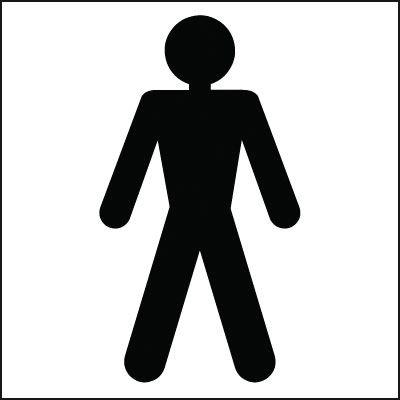 150x150mm Male Toilet symbol - Rigid