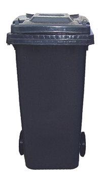 120 Litre Wheeled Bin - Black