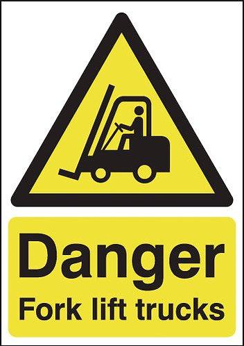 210x148mm Danger Forklift Trucks - Rigid